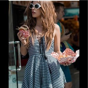 Lost Muse Gingham Rompers